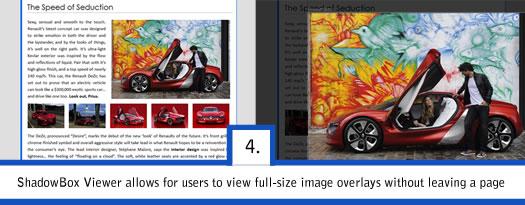 website design wordpress shadowbox