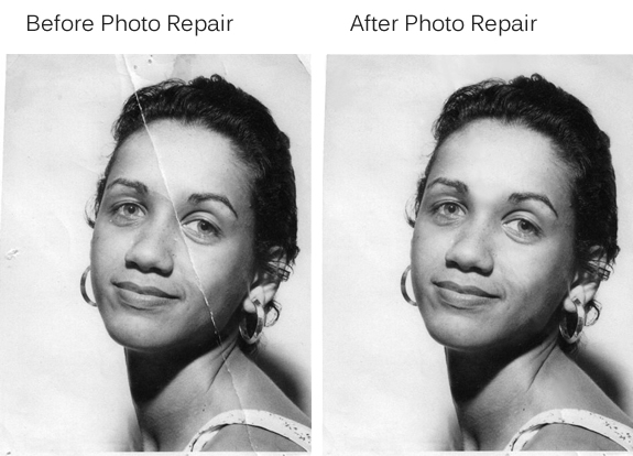 physical photo repair example