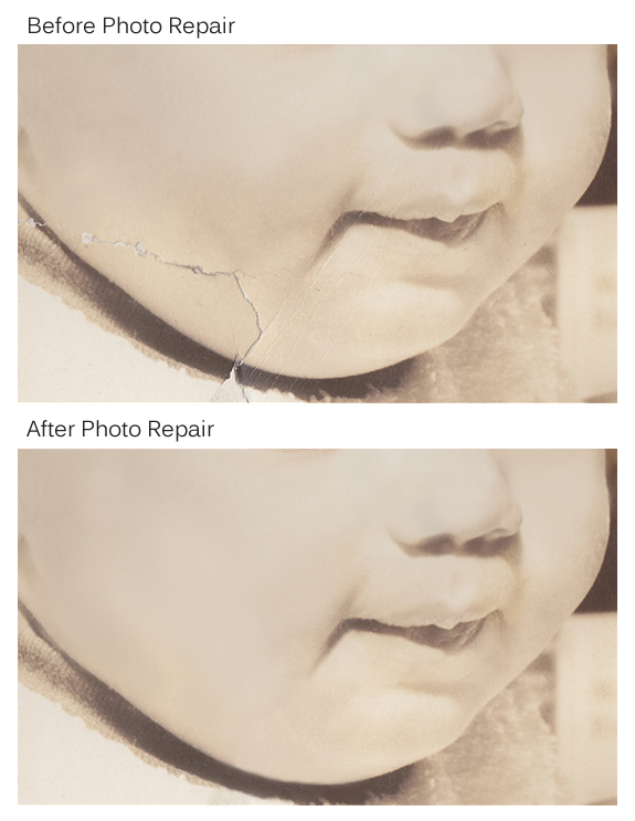 example of photo repair touch up