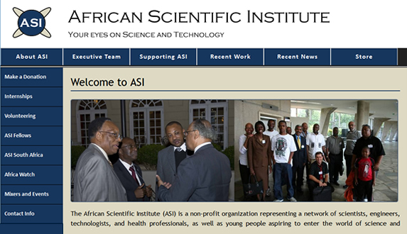 African Scientific Institute portfolio showcase
