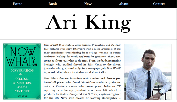 Ari King Now What College Book