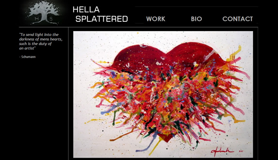 Website Creation help for Hella Splattered