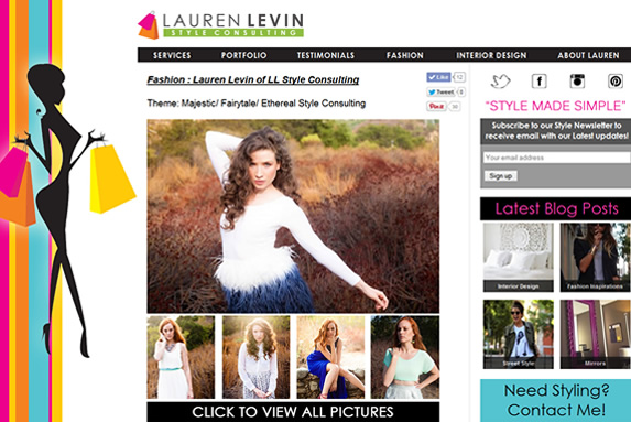 Lauren Levin Style Consulting Best WordPress Designer