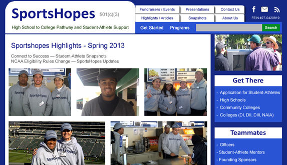 SportsHopes WordPress Redesign