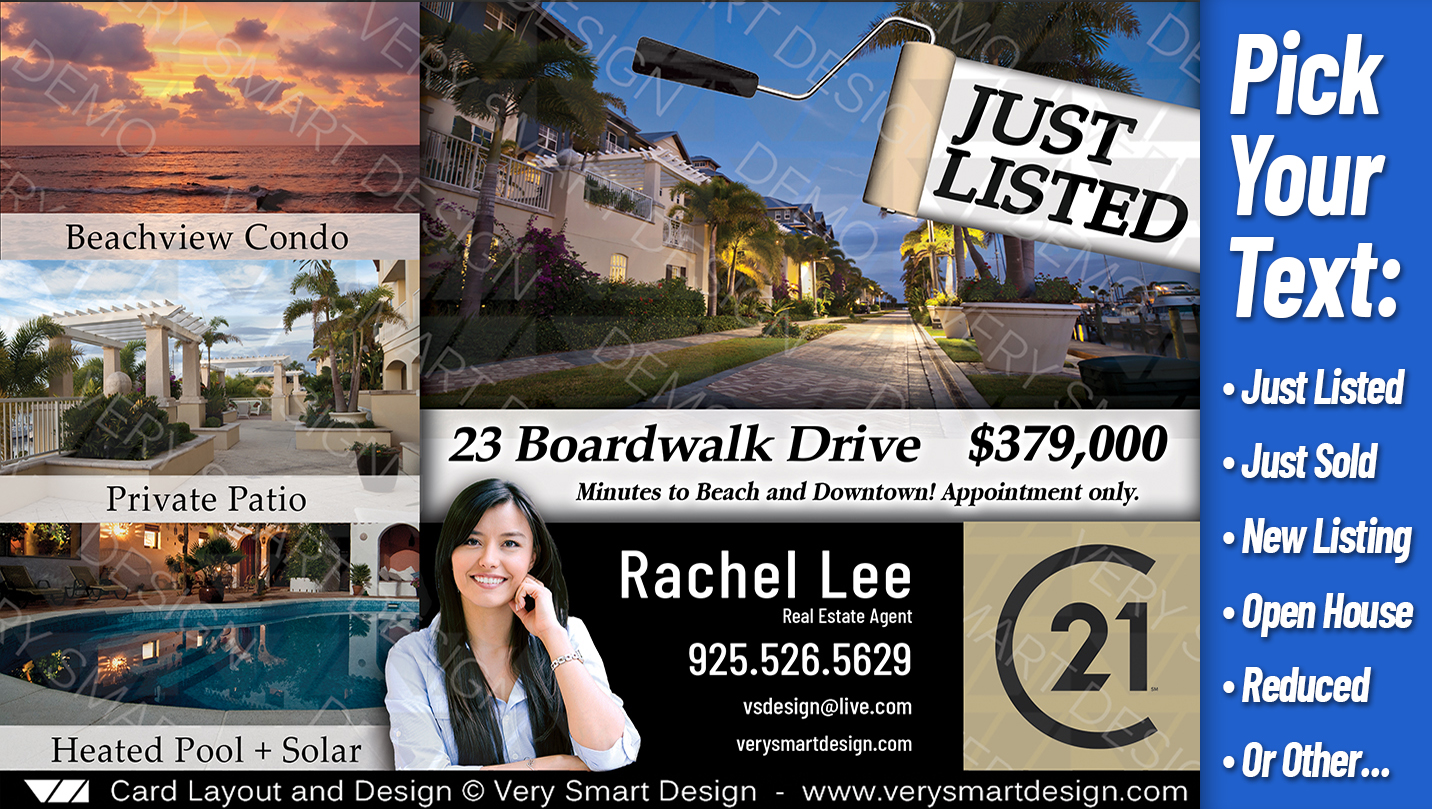 just listed postcard template 104 best real estate marketing