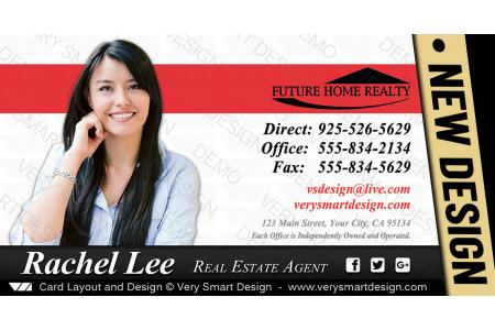 New future home realty business cards for fhr realtors 8d red and white reheart Choice Image