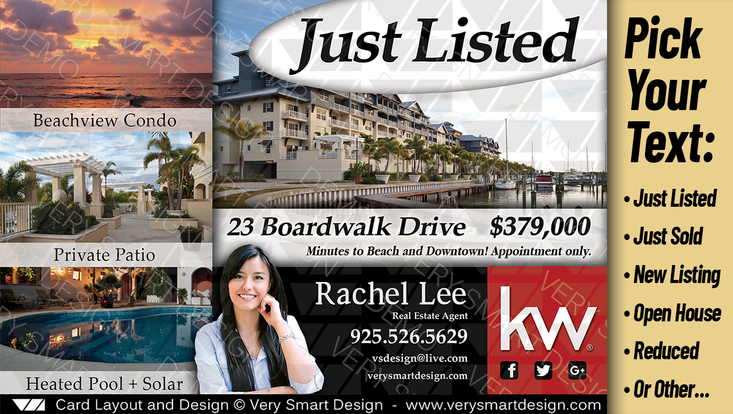 New Real Estate Property Promo Flyers Templates Keller Williams B - Just sold flyer template