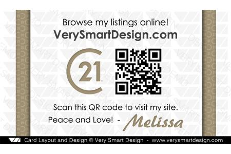 New c21 logo agent real estate business cards century 21 design 3d back 3 of century 21 business cards with qr code and new c21 logo design colourmoves