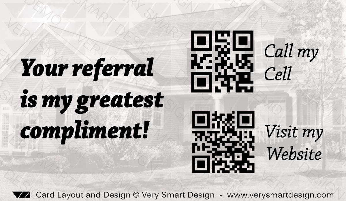 Real Estate Agent Business Card with QR Code Back Design 9 | Image ...