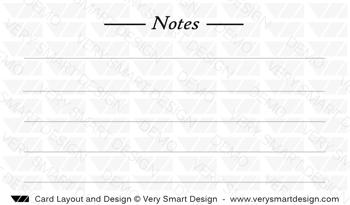 Business Card Back Design 12 with Notes for Real Estate Marketing ...