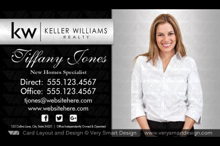 Keller williams business card real estate marketing design 3b silver white and red keller williams business card custom real estate design 1ablack and silver keller williams colourmoves