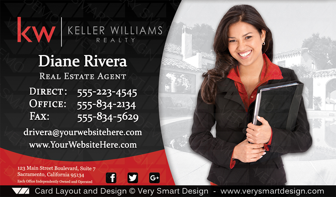 Business cards keller williams real estate 3c red and black real black and red business cards keller williams real estate 3c colourmoves