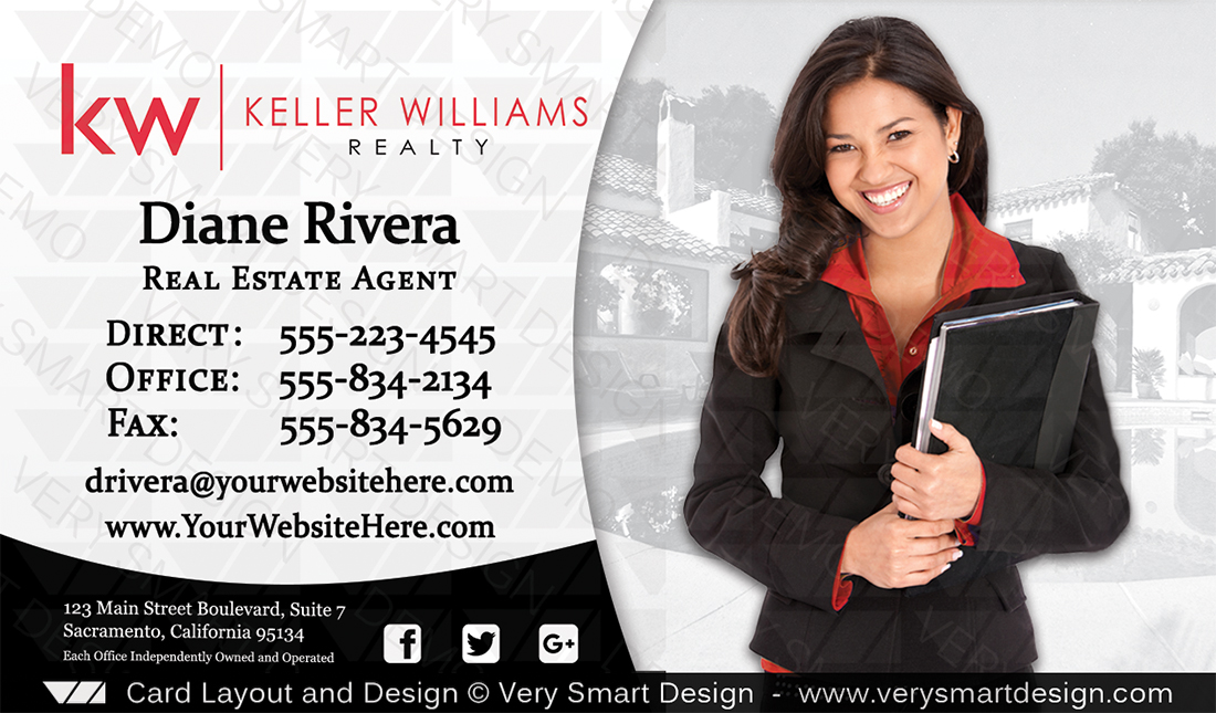 Keller williams realty business cards templates 3b silver and white white and silver keller williams realty business cards templates 3b accmission Images