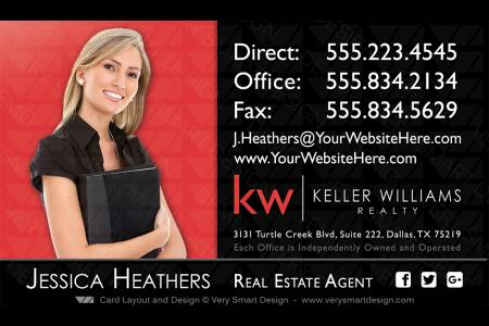 Very smart design 1200 premium real estate business cards red and black keller williams real estate agent business cards 4b wajeb Gallery