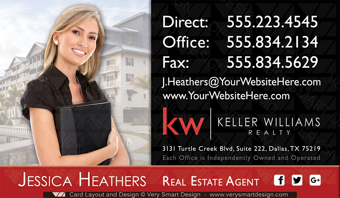 Keller williams team business cards for kw agents 4d red and black black keller williams team business cards for kw agents 4d by keller williams colourmoves