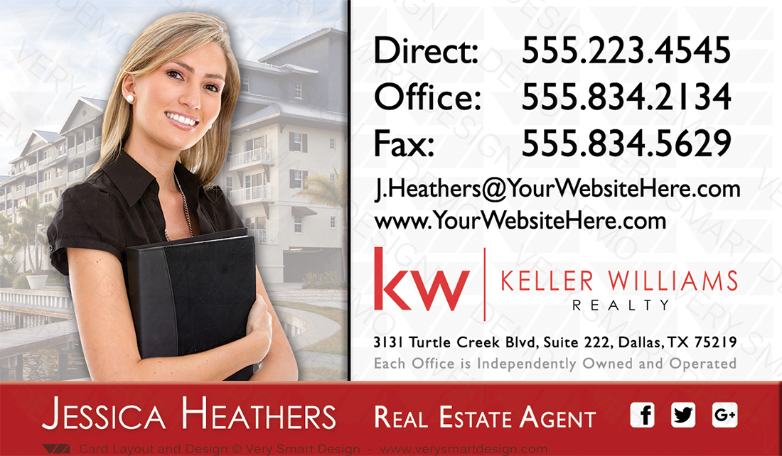 Custom keller williams business card template for kw usa 4e red and white and red custom keller williams business card template for kw usa 4e fbccfo Choice Image