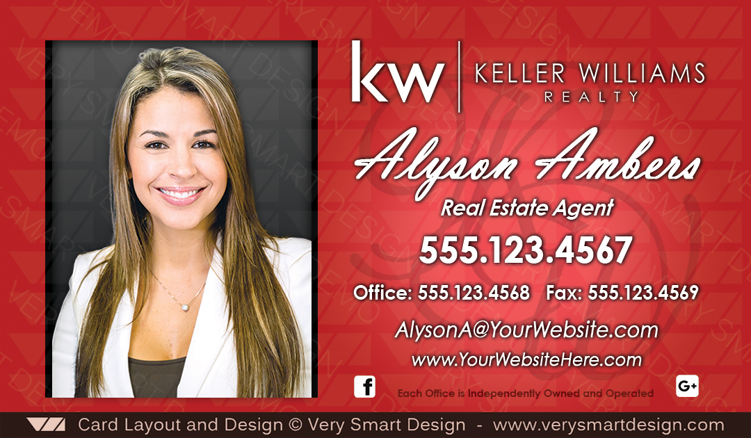 Keller Williams Realty Business Cards Templates for KW Realtors 5B ...