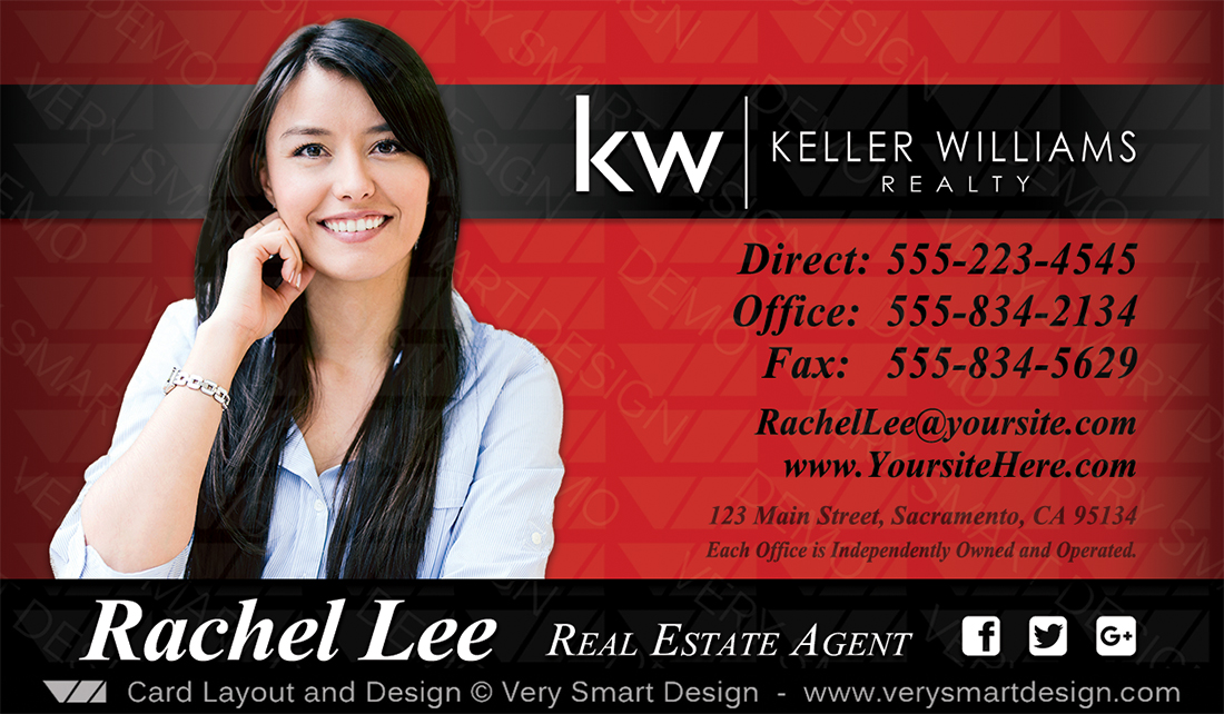 Keller williams realty business cards templates for kw realtors 8a red and black keller williams realty business cards templates for kw realtors 8a friedricerecipe