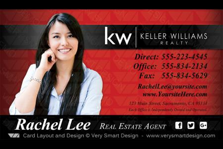 Improve your real estate marketing with 1200 premium business cards red and black keller williams realty business cards templates for kw realtors 8a reheart Gallery