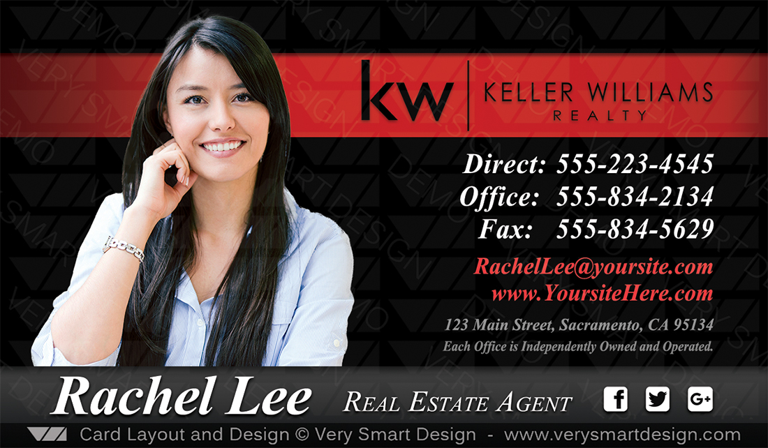 Business cards keller williams real estate agents in usa 8b red and black business cards keller williams real estate agents in usa 8b by keller williams colourmoves
