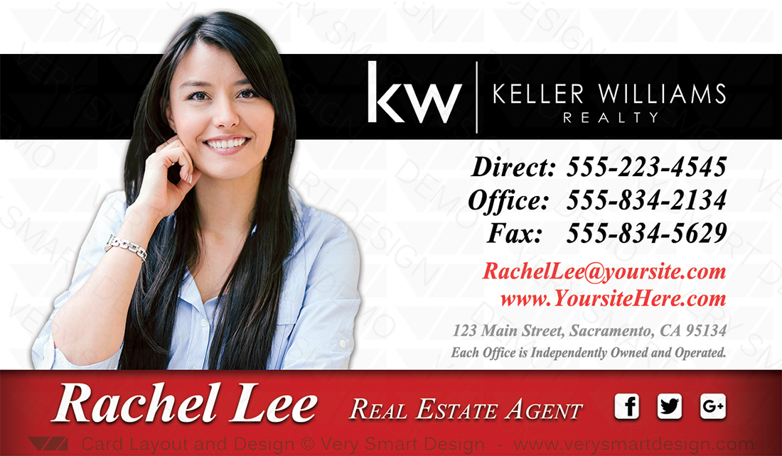 Keller williams real estate business card design for kw associates real estate white and red keller williams real estate business card design for kw associates 8c reheart Choice Image