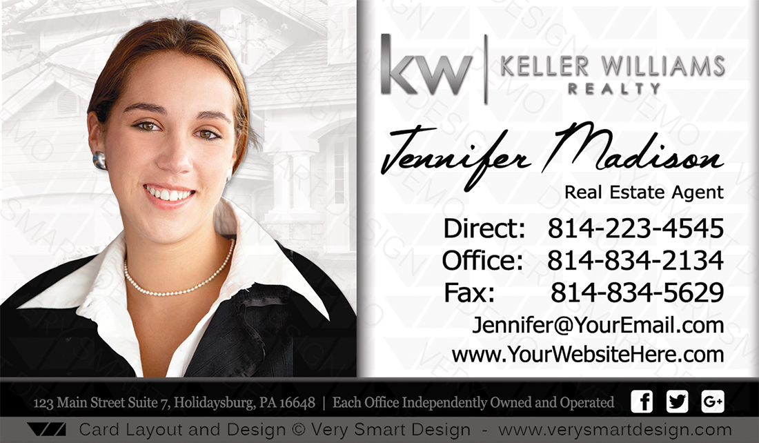 Keller Williams Real Estate Agent Business Cards For Kw Agents 9a