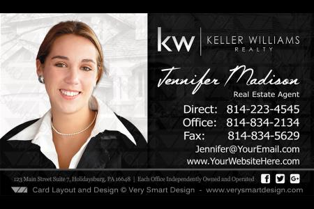 Keller williams real estate agent business cards for kw agents 9a white and black keller williams team business cards for kw agents 9c presenting new real estate colourmoves