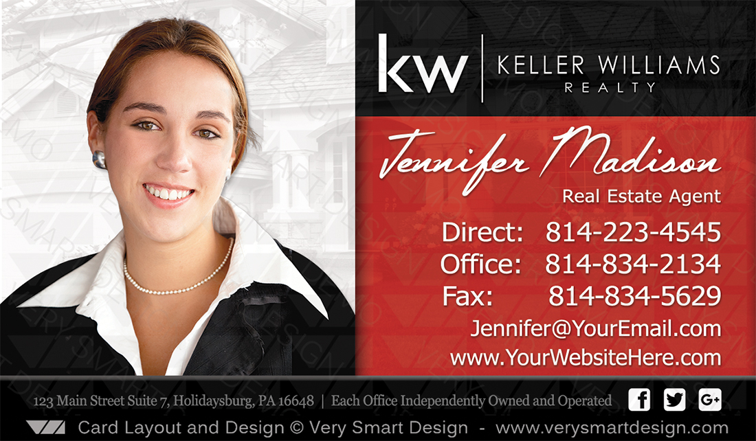 Custom keller williams business card template for kw usa 9d black real estate red and black custom keller williams business card template for kw usa 9d by cheaphphosting Image collections