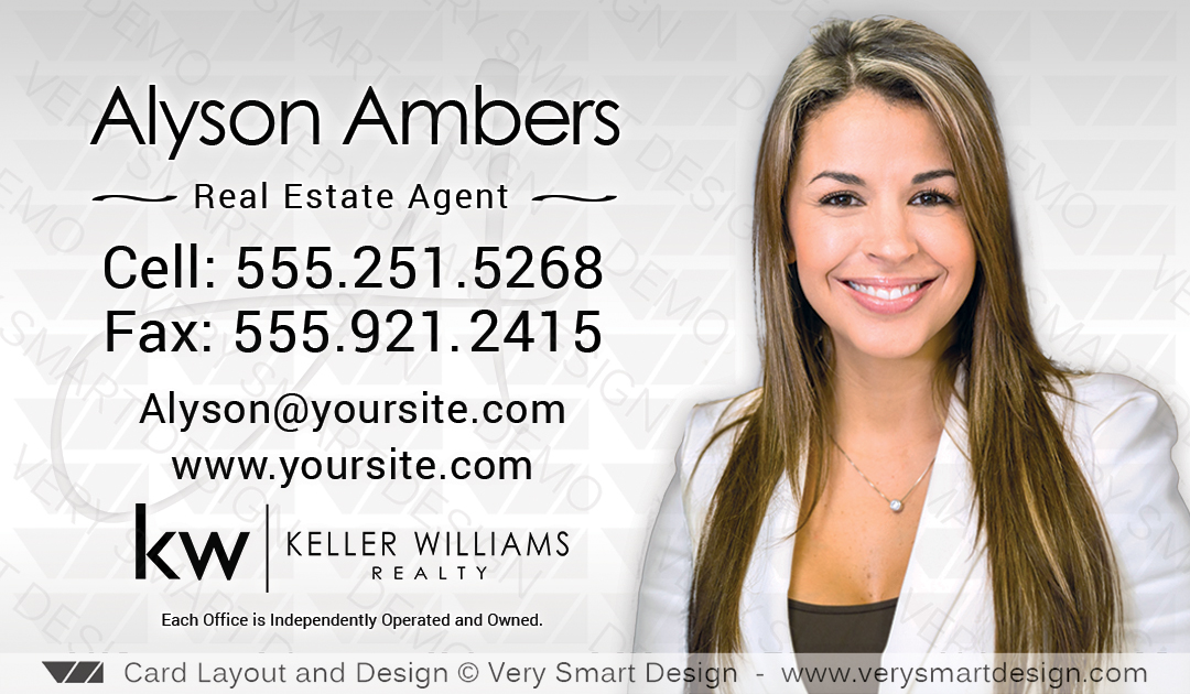 Keller williams realty business cards templates for kw realtors 1 silver and white keller williams realty business cards templates for kw realtors 1 10b colourmoves