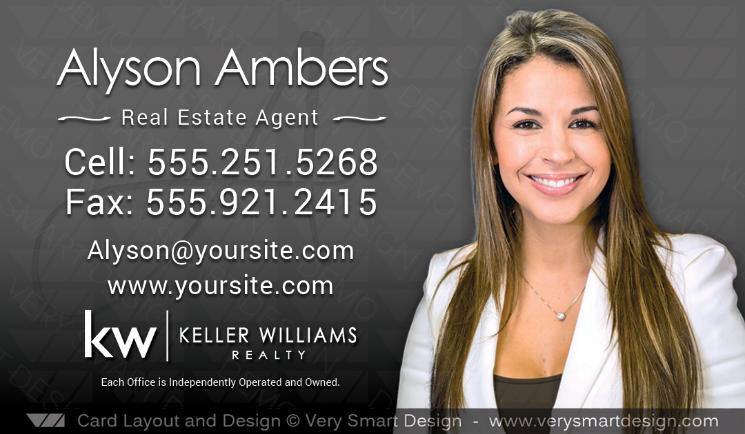 Business cards keller williams real estate agents in usa 10c black dark gray and black business cards keller williams real estate agents in usa 10c colourmoves