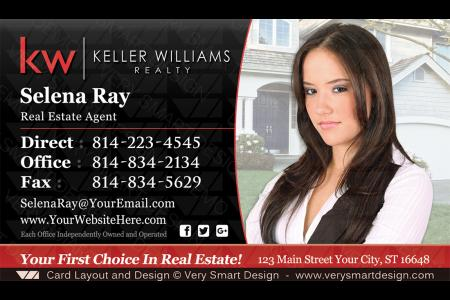 Business cards keller williams real estate agents in usa 17b black black and red keller williams real estate agent business cards for kw agents 11b colourmoves