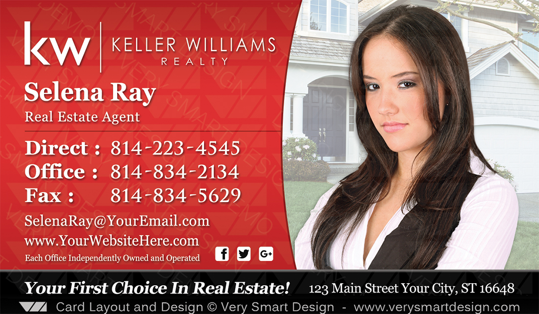 Keller Williams Realtor Business Cards for KW Associates 11C Black ...