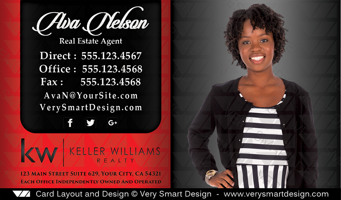 Keller williams realty business cards templates for kw realtors 13a red and black keller williams realty business cards templates for kw realtors 13a colourmoves