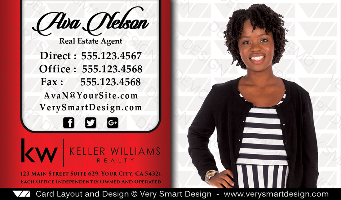 Business cards keller williams real estate agents in usa 13b white red and white business cards keller williams real estate agents in usa 13b colourmoves