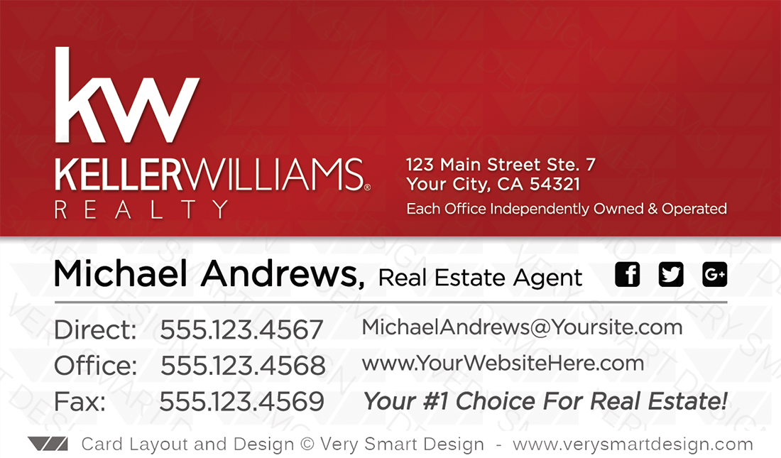 Keller williams realtor business cards for kw associates 16a white red and white keller williams realtor business cards for kw associates 16a colourmoves
