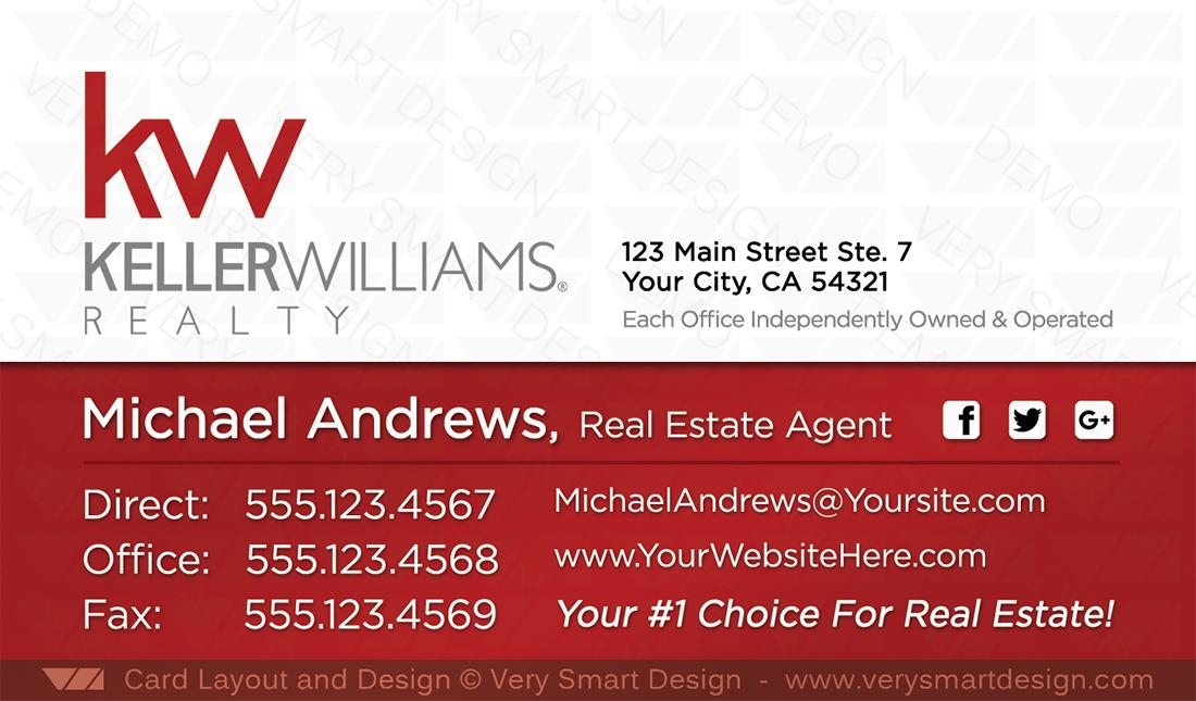 Keller williams team business cards for kw agents 16b red and white white and red keller williams team business cards for kw agents 16b colourmoves
