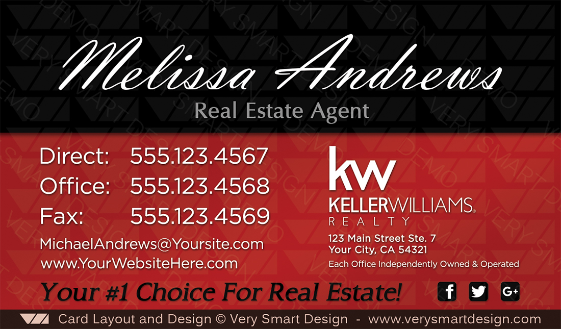Keller Williams Real Estate Marketing Business Card Design 17A ...