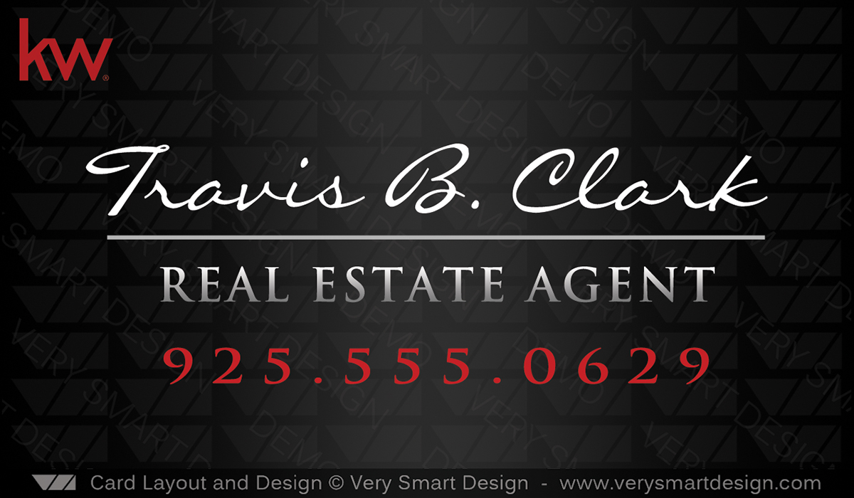 Custom keller williams business card template for kw usa 19a red and black and red custom keller williams business card template for kw usa 19a cheaphphosting Image collections