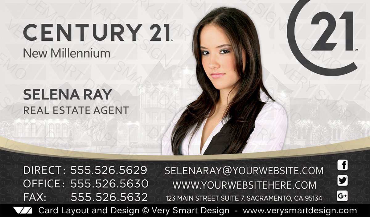 Century 21 realtor new logo business cards for c21 associates 1a century 21 wajeb Image collections