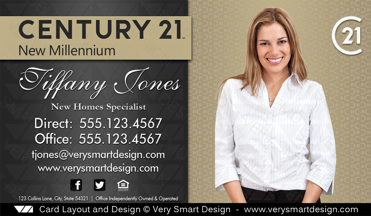 New logo century 21 real estate business cards template 2b image new logo century 21 real estate business cards template 2b cheaphphosting Images