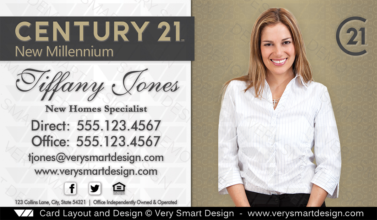 Century 21 new logo real estate business cards template 2d image century 21 new logo real estate business cards template 2d cheaphphosting Images