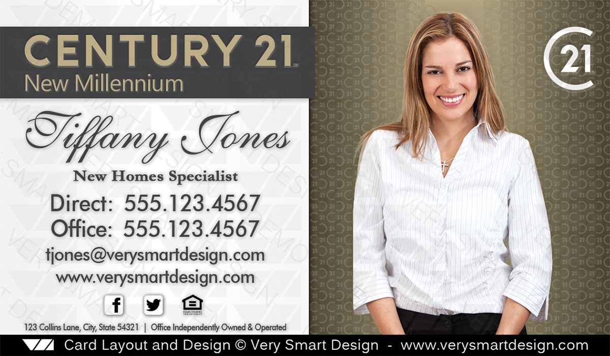 New Logo Century 21 Real Estate Agent Business Cards for C21 Agents ...