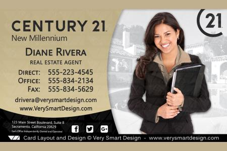 Century 21 realtor new business cards for c21 associates 3a dark gold and dark gray century 21 realtor new business cards for c21 associates 3a presenting new real estate reheart Choice Image