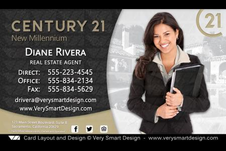 Custom Century 21 Business Card Templates With New C21 Logo 3c Gold