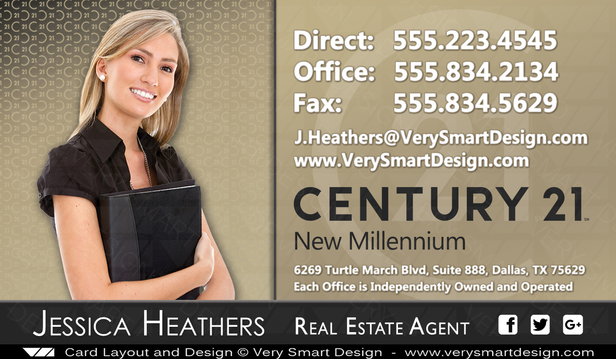 Century 21 Realty New Logo Business Cards Templates For C21 Realtors