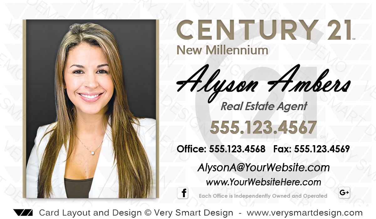 Century 21 Real Estate Business Cards with New C21 Logo Agents 5A ...