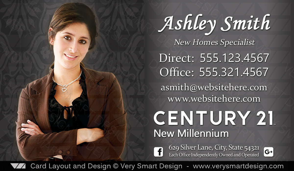 Century 21 realty new logo business cards templates for c21 realtors dark gray and white century 21 realty new logo business cards templates for c21 realtors 6b accmission