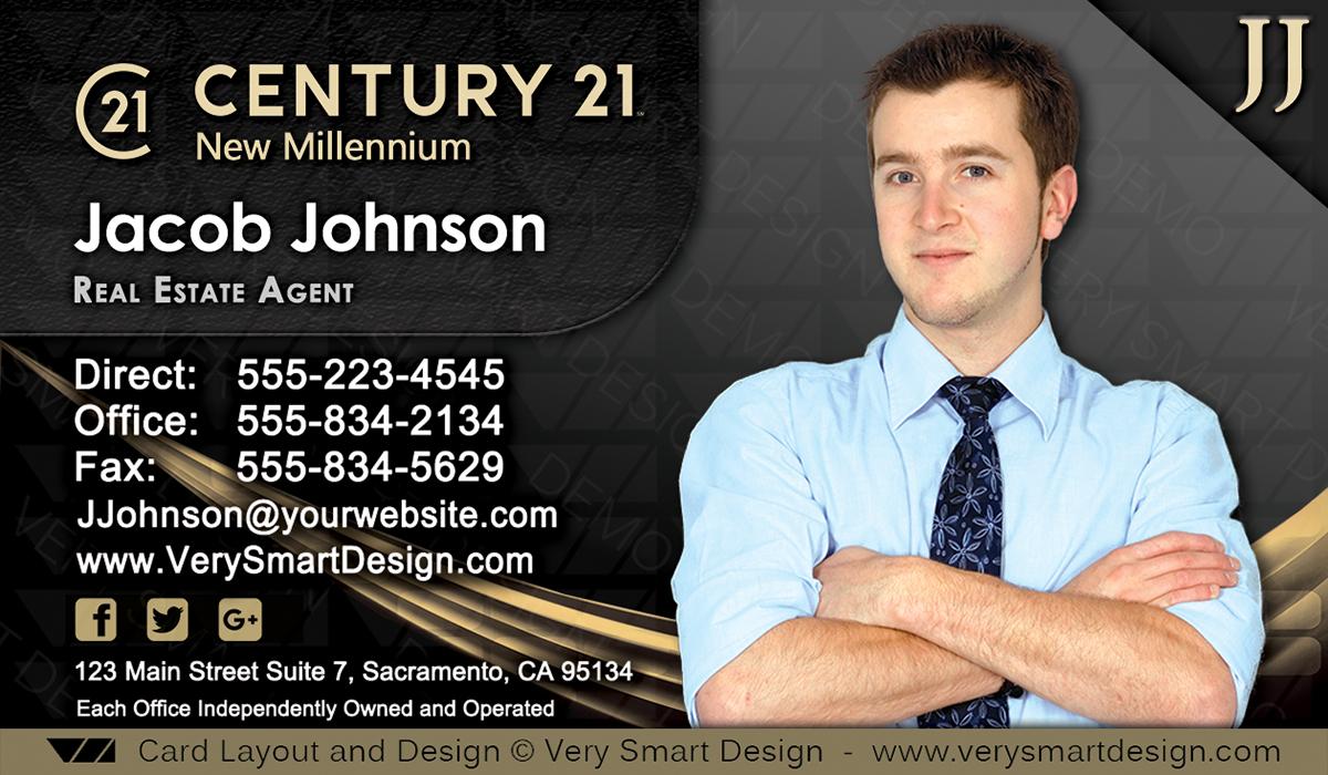 Century 21 Realtor New Logo Business Cards for C21 Associates 7C ...