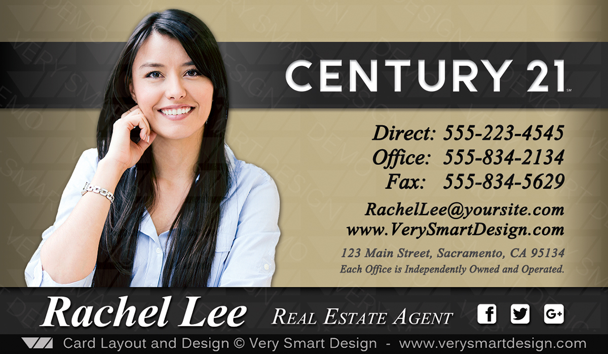 New Century 21 Business Card for Real Estate Agents Design 8A ...