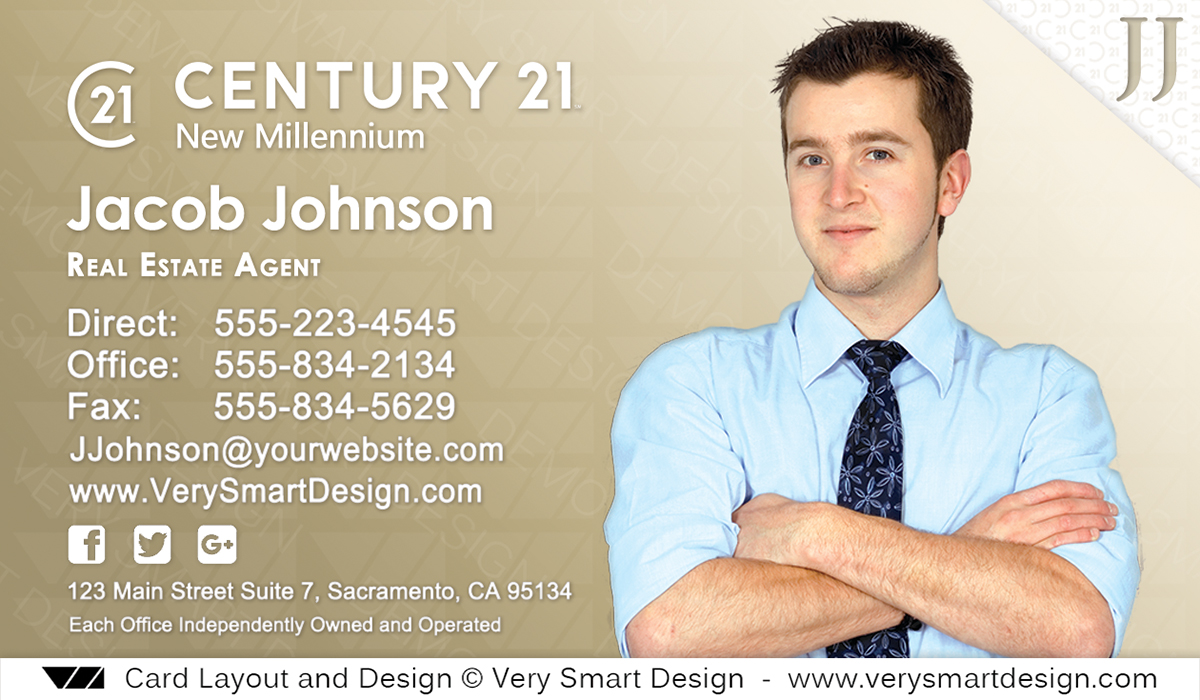 Custom Century 21 New Logo Real Estate Business Card Designs for C21 ...